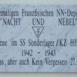 """KZ Hinzert Plakette Nacht und Nebel 150x150 - """"Verschwindenlassen"""" in der deutschen Geschichte"""