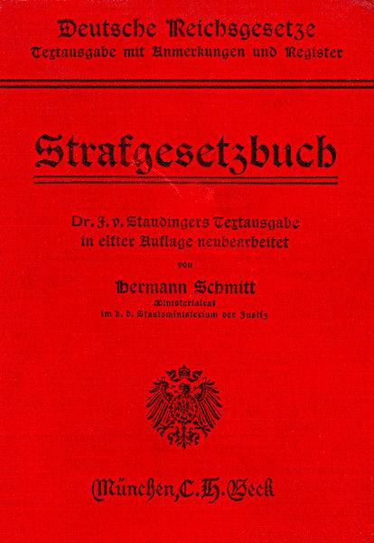 StGB 1914 - Rechtfertigungsgründe